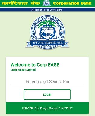 Corporation Bank mobile banking