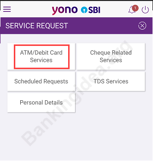 SBI YONO apply SBI ATM Debit card online