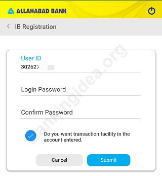 Allahabad bank net banking online register