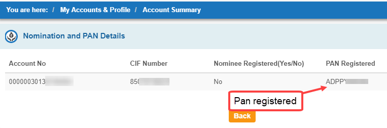know pan card link SBI account or not