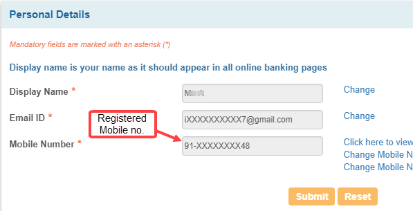check which mobile number registered SBI