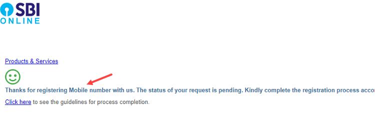 Change SBI registered mobile number online