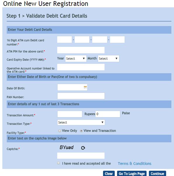 Register Vijaya bank net banking online