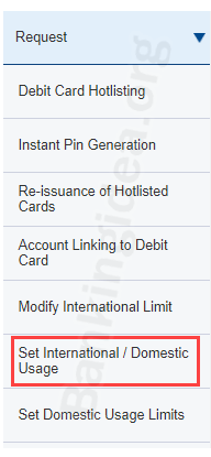 HDFC Debit card international use