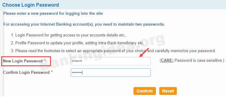 SBI net banking first time login