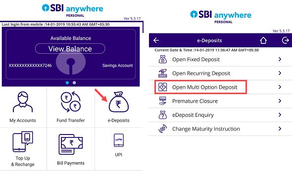 Open SBI MOD online
