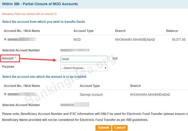 Transfer MOD Money Back to Saving Account | Withdraw SBI MOD Money