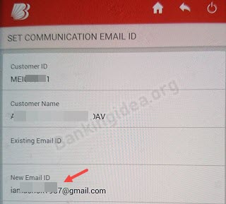 BOB Email ID Register or Update Online