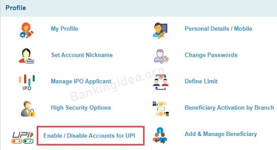 How To EnableDisable UPI for SBI Account