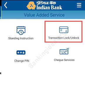 Indian Bank Online transaction Lock?Unlock