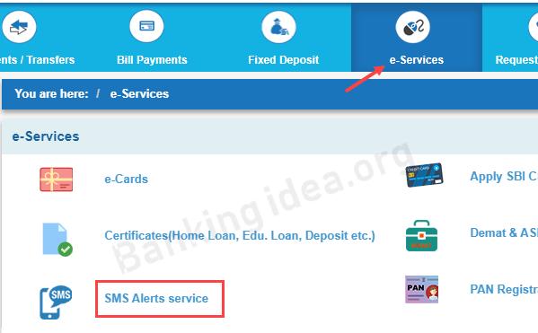 SBI SMS alert