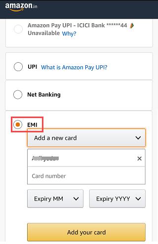Kotak EMI Debit card