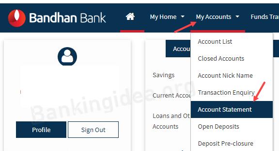 check bandhan bank statement
