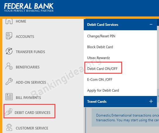 Enable International Usage For Federal Debit Card
