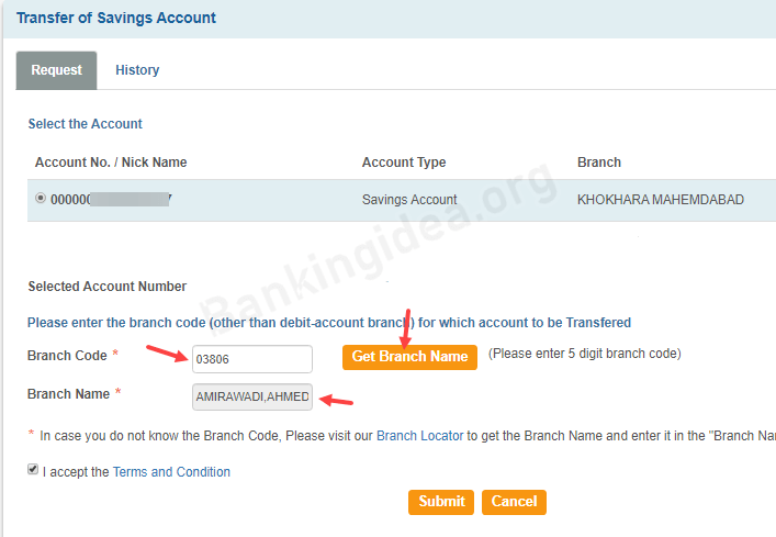 Transfer SBI account | Change SBI Branch