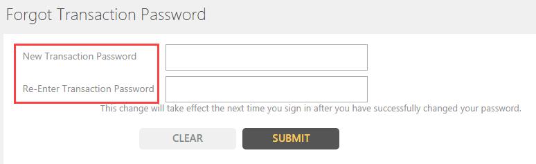 reset Indian Bank Transaction Password