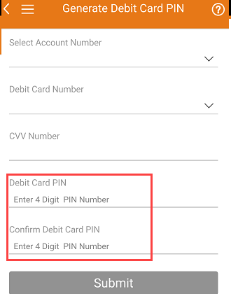 Generate ICICI Debit Card ATM PIN Online