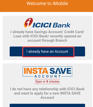 ICICI Mobile Banking activate registration iMobile