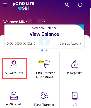 SBI YONO Lite mY Accounts