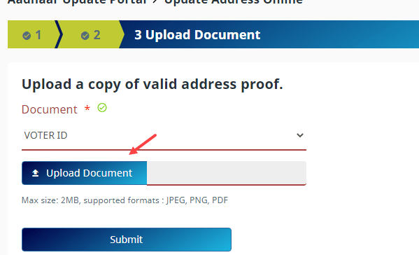 Update Aadhaar Card Address Online