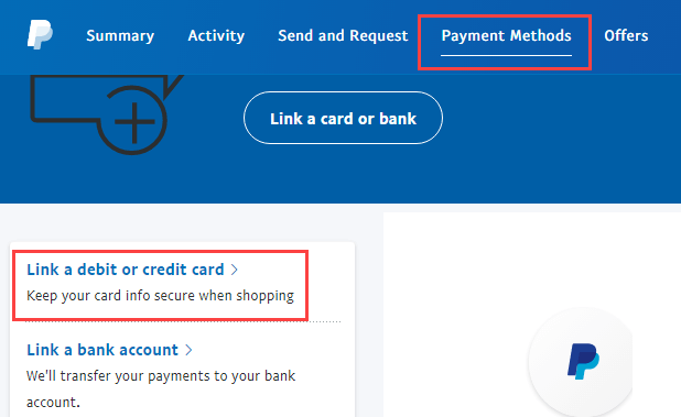 Link Debit Card With PayPal