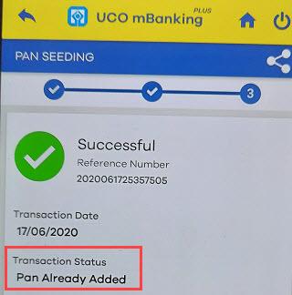 Pan card link UCO Bank