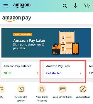 Amazon PayLater Account