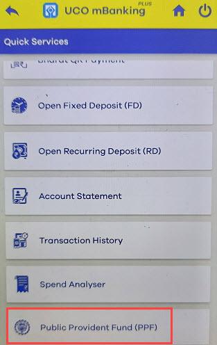 Kotak Mobile Banking PPF open online