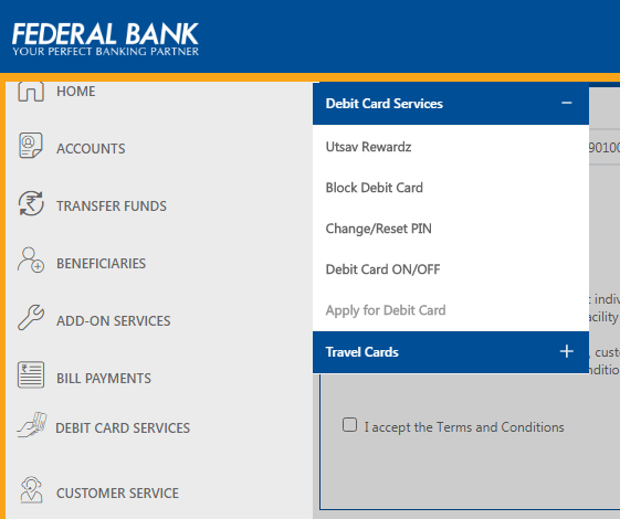Apply Online for Federal Bank ATM Card