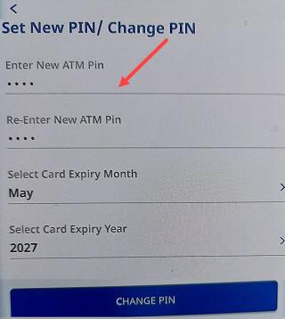 federal bank ATM PIN
