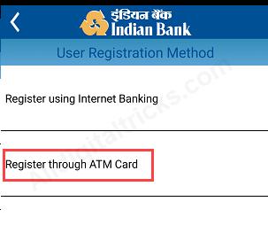 register Indian bank Mobile Banking?