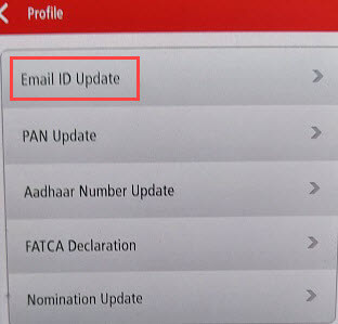 Change/Register Kotak Bank Email ID online