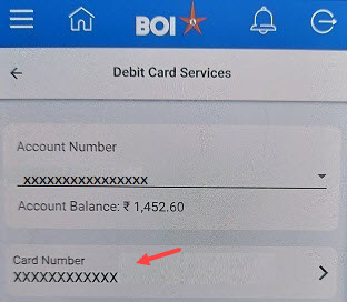 Bank of India (BOI) ATM PIN generation Online