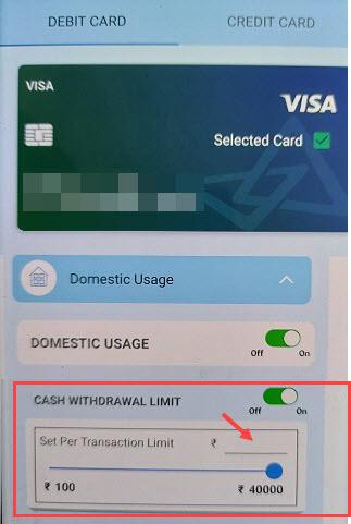 Change Canara Debit Card Limit
