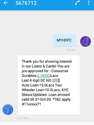 HDFC EMI on Debit card