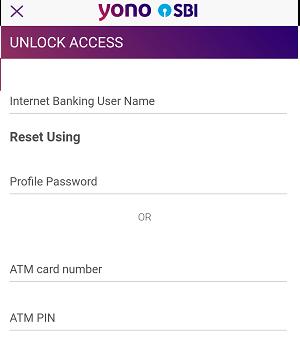 Lock/Unlock SBI YONO Application