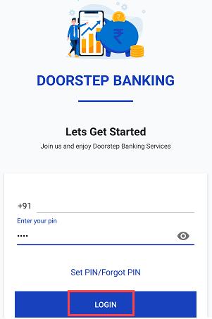 Door step banking login