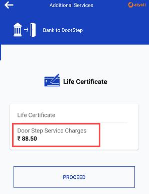 Submit Life Certificate Online through Door Step Banking
