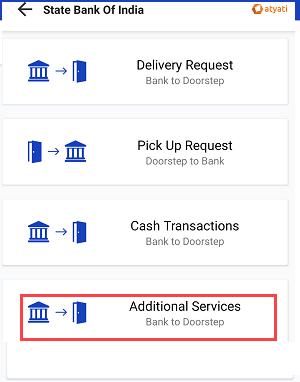 Door step banking add bank account