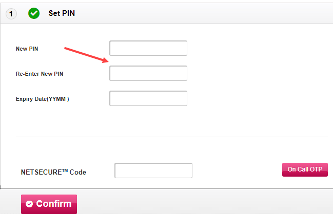 Generate Axis Bank ATM PIN Online