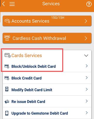 Block/Unblock ICICI Debit Card
