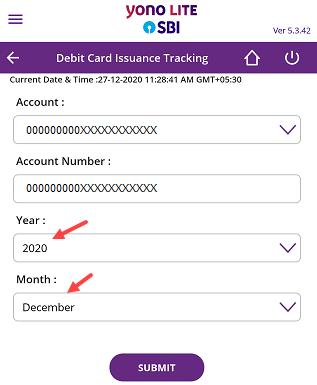 SBI Debit Card Delivery Status Tracking Online