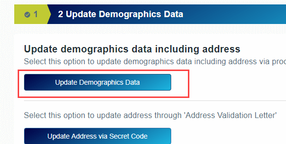 Update Demographics Data Online