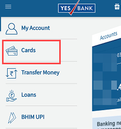 Yes Bank Mobile Banking Cards