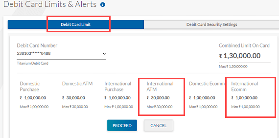 Enable International usage for Yes Bank Debit Card